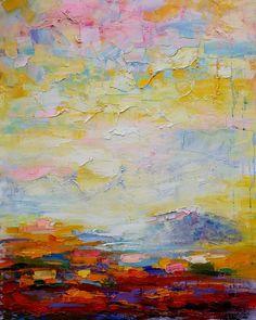 Heavy texture landscape art I recent paint