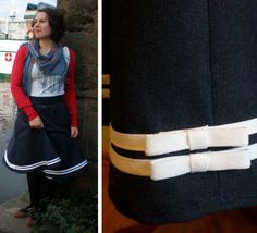 I like the ribbon detail on the circle skirt.