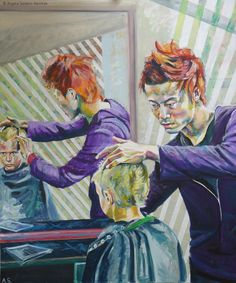 Hair cut | Acryl auf Leinwand 100 x 120 cm | 2011