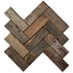 Ideas for barn wood tile backsplash Herringbone Backsplash, Herringbone Pattern, Herringbone Wall, Wood Backsplash, Backsplash Ideas, Tile Ideas, Wood Wall Tiles, Wood Flooring, Basement Flooring
