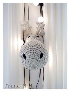 Reindeer head from Anne-Claire Petit Hand Crochet, Crochet Hats, Countryside Village, Reindeer Head, Life Is Good, Crochet Earrings, Netherlands, Claire, Schedule