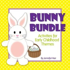Easter Bunny Bundle:  math, literacy, fine motor, and visual discrimination activities for preschool, pre-k and ECE.