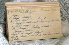 Step back in time with this vintage Clutzens recipe. Read about this recipe card's history and view other recipes at the Vintage Recipe Project
