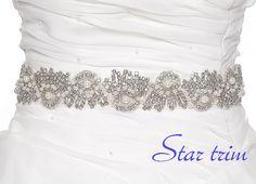 RANDOL Wedding crystal pearl bridal sasg  belt by startrim on Etsy, $70.00