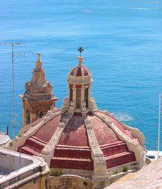 Malta Grand harbour church by Carmelo Aquilina, via Flickr