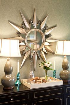 I want this mirror SO!! ~ Butler Dining Room - eclectic - dining room - nashville - by Eric Ross Interiors, LLC