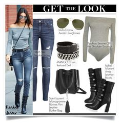 """""""Get the Look: Kendall Jenner"""" by helenevlacho ❤ liked on Polyvore featuring H&M, Linda Farrow, Isabel Marant, Yves Saint Laurent, GetTheLook, StreetStyle, kendalljenner and CelebrityStyle"""