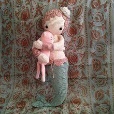 MICI the mermaid made by eleonoreandmaurice / crochet pattern by lalylala ♡ Crochet For Kids, Crochet Baby, Knit Crochet, Crochet Mermaid, Mermaid Dolls, Stuffed Toys Patterns, Amigurumi Doll, Crochet Dolls, Doll Toys