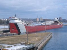 For all of you Boat Nerds, you probably know which freighter this is. For everyone else, this is the Arthur M Anderson. Take a look at why people are so crazy about the freighters that come through the Soo Locks in Sault Ste. Marie, MI.