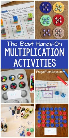 Hands-On Multiplication Activities - Frugal Fun For Boys and Girls Maths 3e, Multiplication Activities, Math Activities For Kids, Math For Kids, Numeracy, Multiplication Table For Kids, Division Activities, Math Fractions, Math Worksheets