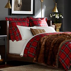 Furniture, Home Furnishings & Luxury Home Furniture | Williams-Sonoma... red plaids are perfect for the winter holidays! Makes me think of cozy cabins and fireplaces!