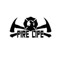 Fire Life - Fireman Firefighter Vinyl Decal EMT Medic FD Car Stickers Black or Silver 20.3CM*9.9CM #Vinyldecalsideas