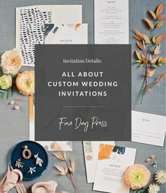 I get a lot of inquiries from couples about creating custom wedding invitations, so I wanted to give you a little insight into the process, and if it's right for your wedding, in our latest post. #weddinginvitations #customweddinginvitations #weddingplanningtips #weddingplanning