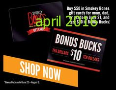 Smokey Bones Coupons Ends of Coupon Promo Codes JUNE 2020 ! But Bones open Bones, in grill Smokey not it good but good one's it who fo. Grocery Coupons, Shopping Coupons, Free Printable Coupons, Free Printables, Smokey Bones, Coupons For Boyfriend, Fire Grill, Grill Restaurant, Love Coupons