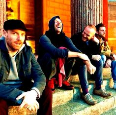 Just 4 guys hanging out with a laugh  Coldplay