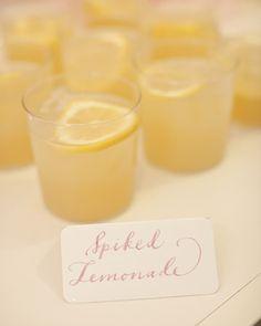 Refreshing spiked lemonade