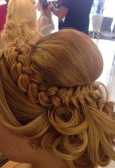 Hair do, braids, curls, pretty