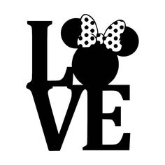Minnie Mouse Ears Love Vinyl Window Decal Sticker
