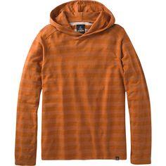 PrAna Dugan Hood - S - Adobe - Shirts ($65) ❤ liked on Polyvore featuring men's fashion, men's clothing, men's hoodies, orange and prana