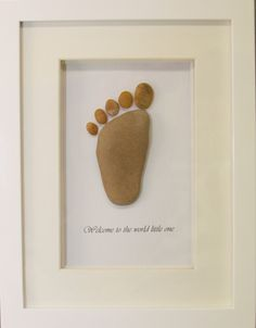 Pebble Art / Stone Art Framed Picture Baby by SkyLineDesign777