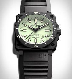 Bell & Ross Diver Full Lum Bell Ross, Time Design, Luxury Watches For Men, Black Rubber, Matte Black, Rolex Watches, News, Accessories