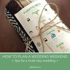 10 should-have ideas for a marriage weekend or multi-day wedding ceremony. >> Check out more at the picture