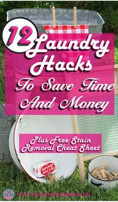 12 Laundry Hacks to Save Time & Money ~ Laundry is a chore nobody likes to do, there are some hacks that you can do to save time, money and make it a bit easier. I've put together a list of 12 laundry hacks that will help you do just that. Plus a free sta Save Money On Groceries, Ways To Save Money, Money Tips, Money Saving Tips, How To Make Money, Savings Planner, Budget Planner, Frugal Living Tips, Frugal Tips