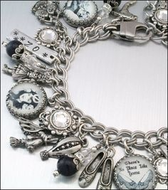Wizard of OZ Charm Bracelet Wizard of OZ by BlackberryDesigns