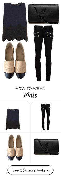 """Untitled #2579"" by fiirework on Polyvore featuring Paige Denim, Rebecca Taylor, Chanel and Yves Saint Laurent"