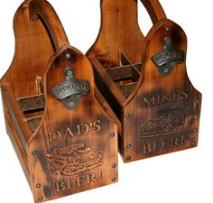 Wooden Beer Tote Personalized Beer Tote Handmade by ReapingWoods