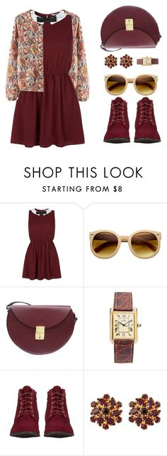 """Beth"" by sazyc ❤ liked on Polyvore featuring Retrò, Lizzy Disney, Susan Caplan Vintage, vintage, retro and burgundy"