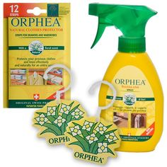 Orphea Moth Buster Pack: Hanging Diffusers, Salvalana Spray & Repellent Strips-Price £19.99 A natural moth repellent made from natural ingredients Protect against Moths & Silverfish A pleasant & unobtrusive bouquet #MothControl