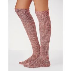 Free People Speckled Slouch Tall Sock ($24) ❤ liked on Polyvore featuring intimates, hosiery, socks, tall socks, slouch socks, free people socks, tall hosiery and slouchy socks