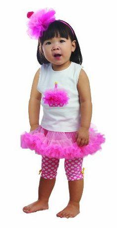 Mud Pie Girls Baby Birthday Cupcake Tank Top and Pettiskirt