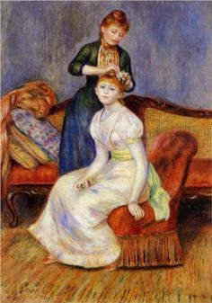 The Coiffure - Pierre-Auguste Renoir (1888)