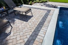 Backyard Haven! Create that perfect backyard spot with Cambridge Pavingstones and Wallstones with ArmorTec. Pool Pavers, Poured Concrete, Swimming Pools Backyard, Landscape Walls, Outdoor Living, Outdoor Decor, Walkway, Water Features, Patio Ideas