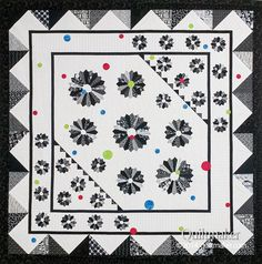 Dancing Dresdens quilt in black and white, from Quiltmaker's Jan/Feb '15 issue