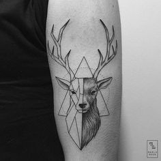 Tattoo • Geometric • Deer by Marla Moon •