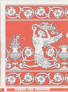 Assisi Blackwork, Cross Stitch Embroidery, Needlework, Kids Rugs, Crochet, Punto De Cruz, Embroidery, Dressmaking, Couture