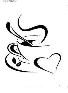 VINYL DECAL STICKER... COFFEE CUP WITH HEART | Home & Garden, Home Décor, Decals, Stickers & Vinyl Art | eBay!