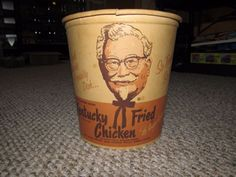 VINTAGE 1950's  KENTUCKY FRIED CHICKEN BUCKET COLONEL SANDERS   #ad