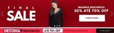 Promoção Moda online feminina: Roupas e Acessórios femininos com descontos especiais http://hcompras.com/promocao-moda-online-feminina-roupas-e-acessorios/