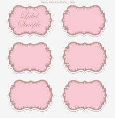 label templates | Wedding Wednesday: DIY Printable Vintage Collection Party Set ~ Kroma ...