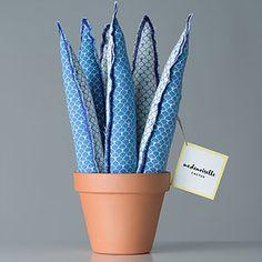 Cactus y plantas de tela hechos a mano