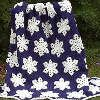 Snowflake Afghan |  I want to make this in sparkly baby blue with sparkly white snowflakes :) #winter