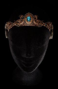 Dragon Crown Medieval Fantasy Renaissance Circlet Tiara Middle Age Bronze Khaleesi Daenerys Targaryen Game of Thrones Blue Turquoise