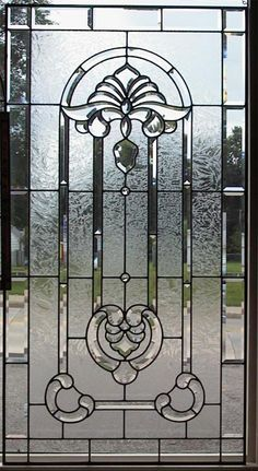beveled glass panels doors | Best glass panel, bevel glass, bevel cluster for decoration of door ... Leaded Glass Windows, Glass Panel Door, Glass Panels, Mosaic Art, Mosaics, Crystal Design, Beveled Glass, Tile Design, Window Treatments