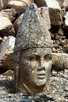 Another head from Mount Nemrut. It's the weathering that adds to its oddness and beauty