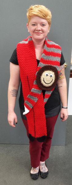 Hey, I found this really awesome Etsy listing at https://www.etsy.com/listing/96122398/brutus-buckeye-crochet-scarf