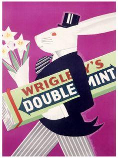 vintage Wrigley's gum poster